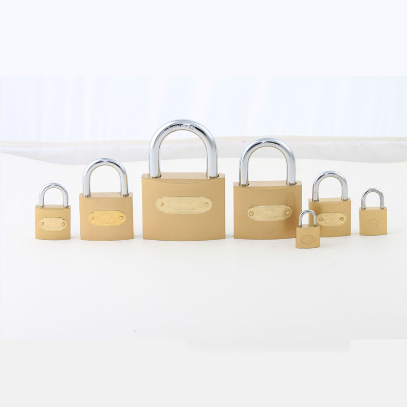 Factory Supply High Quality Imitate Brass Padlock with Logo Stick