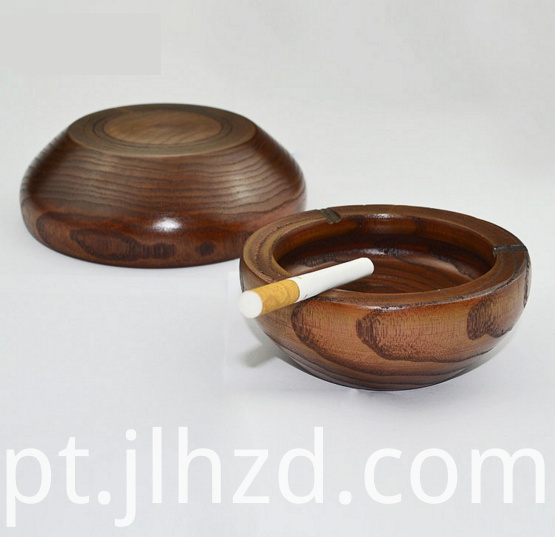 Hard wooden ashtray