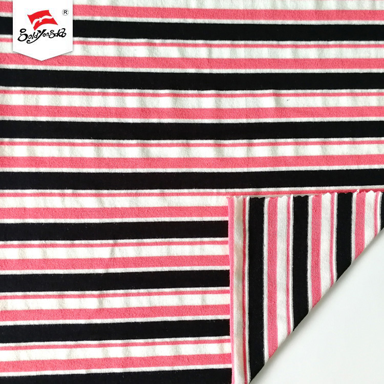 Jersey Cotton Stripe Fabric