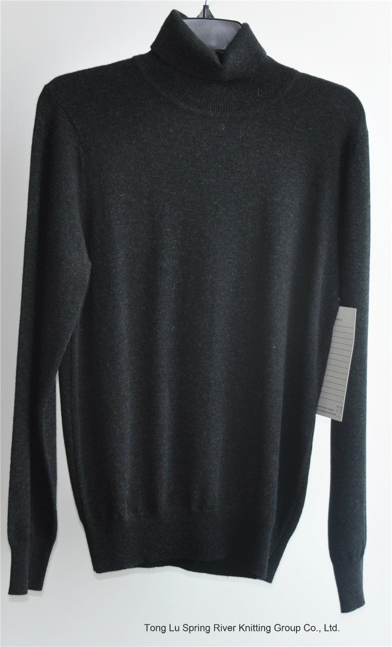 70%Wool 30%Cashmere Knit Puullover Sweater for Ladies
