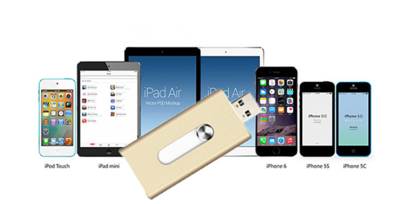 16GB OTG Flash Memory Metal OTG USB Pendrive for iPhone