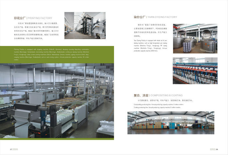 Printing, Coating and Yarn Dyeing Deparments