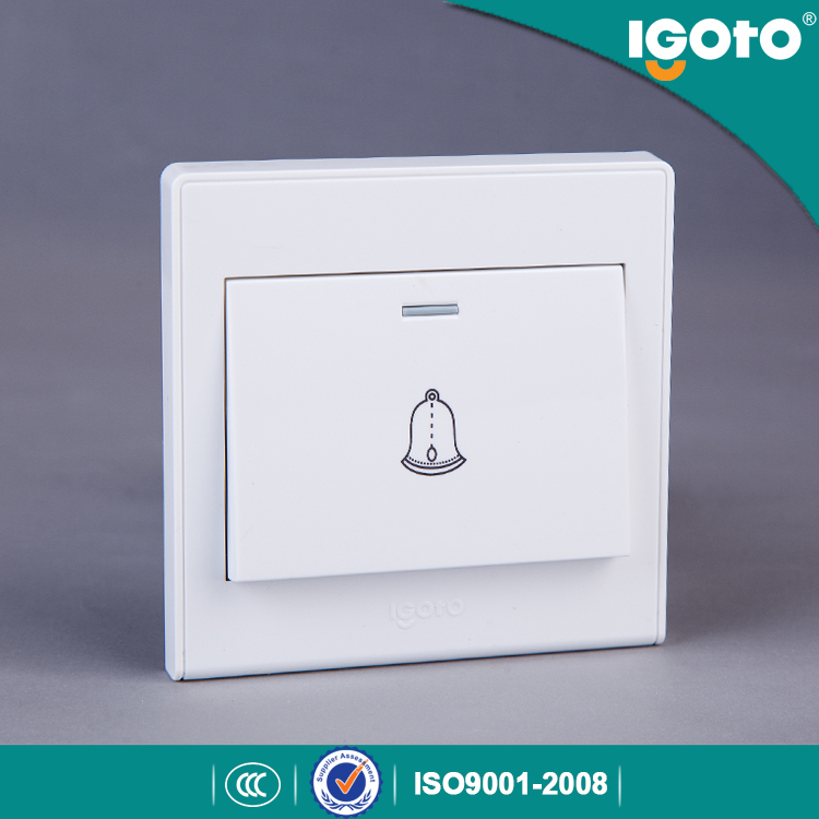 Igoto British Standard D2091 Electrical Push Button Door Bell Wall Switch