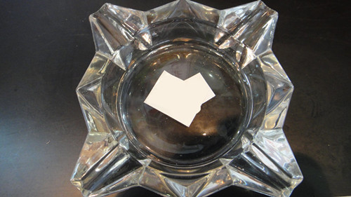 High Quality Clear Glass Ashtray Glassware Tableware Kb-Hn01320