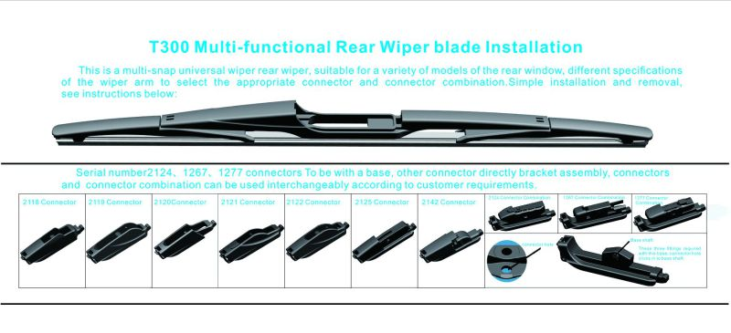 Multi-Functional Back Rear Wiper Blade