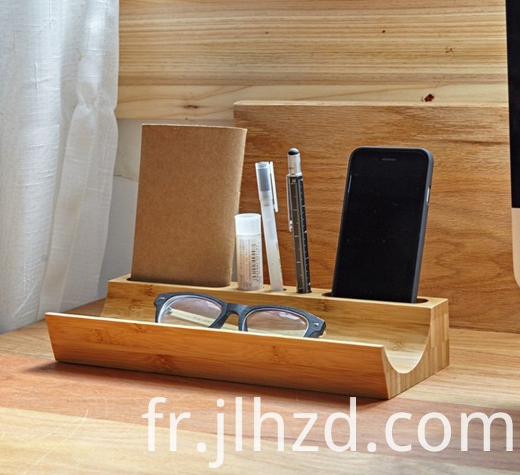 wooden table organizer