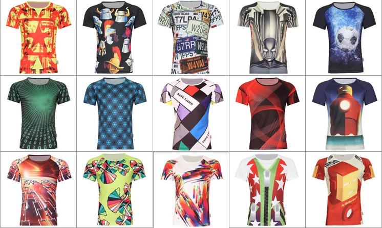 2016 New Style Full Sublimated T Shirts