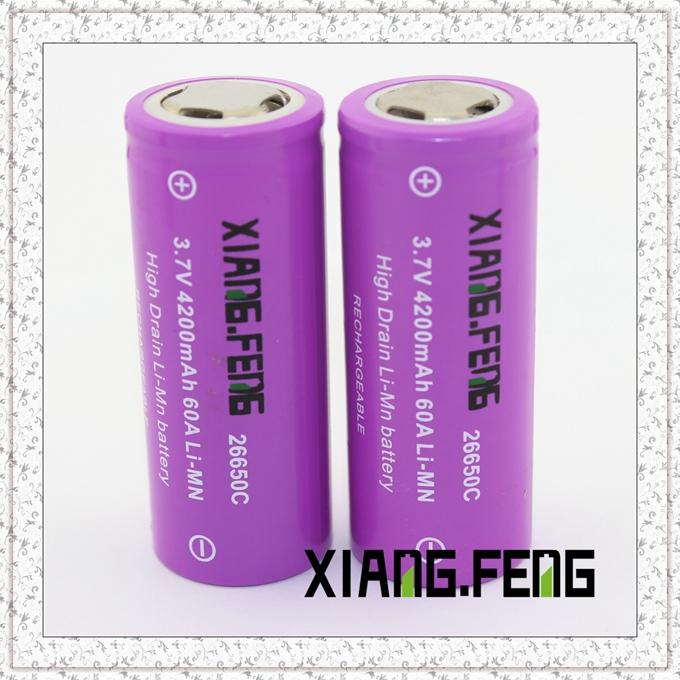 3.7V Xiangfeng 26650 4200mAh 60A Imr Rechargeable Lithium Battery Li-Mn Battery