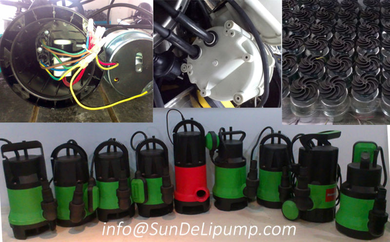 400W Plastic Garden Submersible Pump with Float Switch for Clean Water
