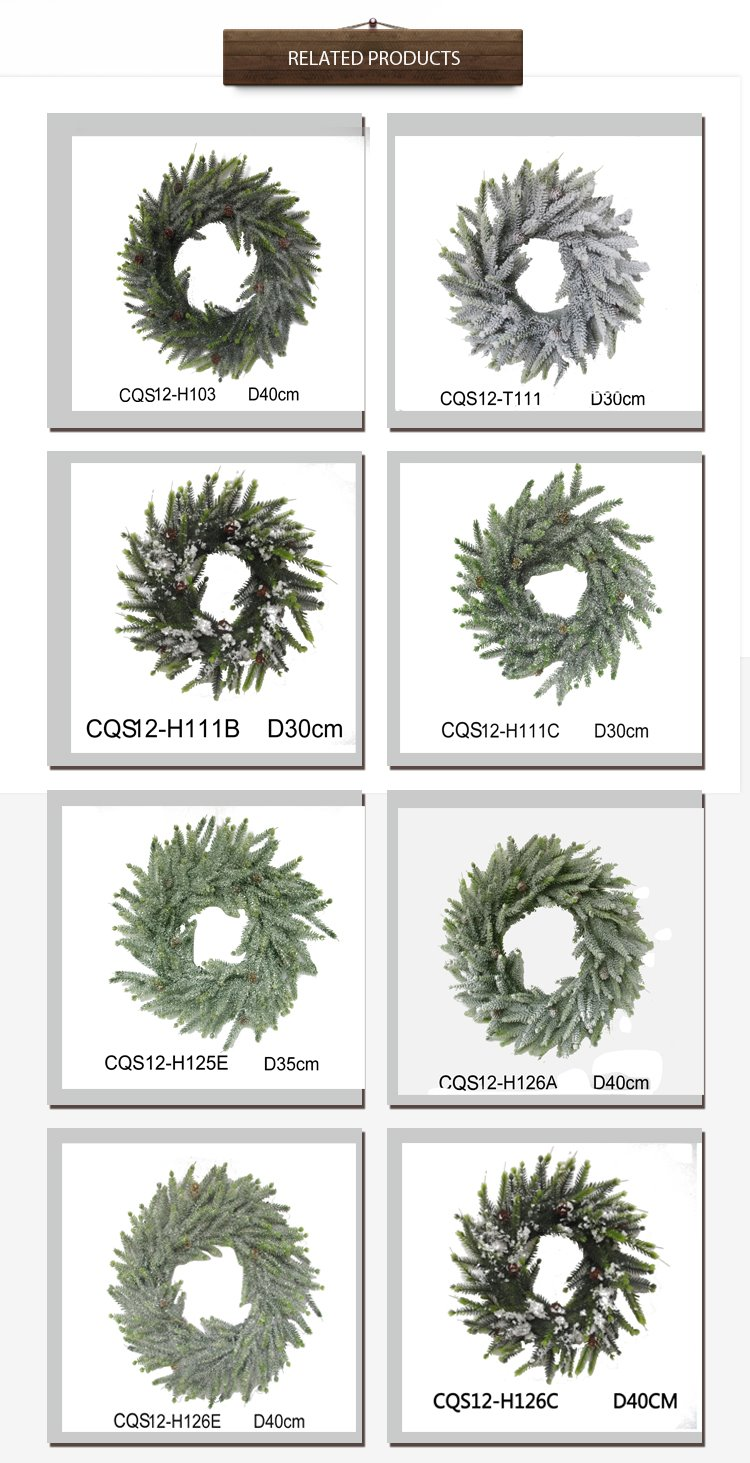 Wholesale Atificial Christmas Atificial Wreaths White with Promotion Prices H30-H48cm