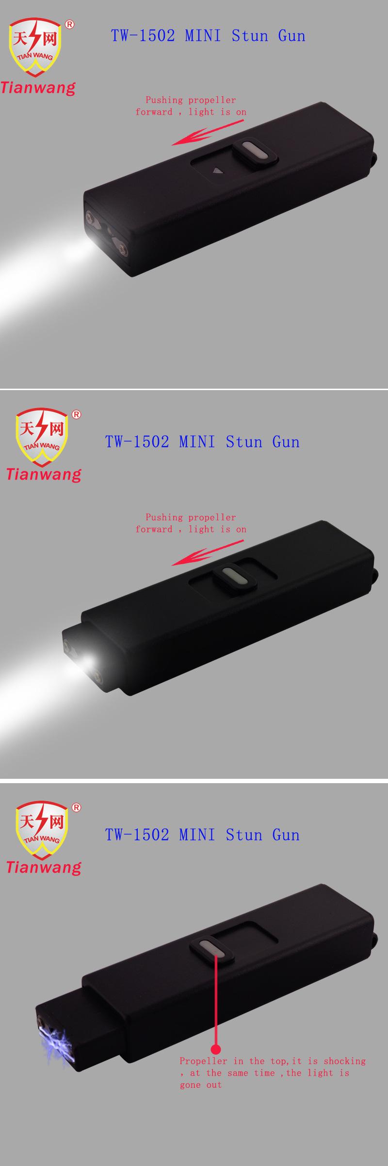Miniature Stun Guns with Flashlight Cheap (TW-1502)