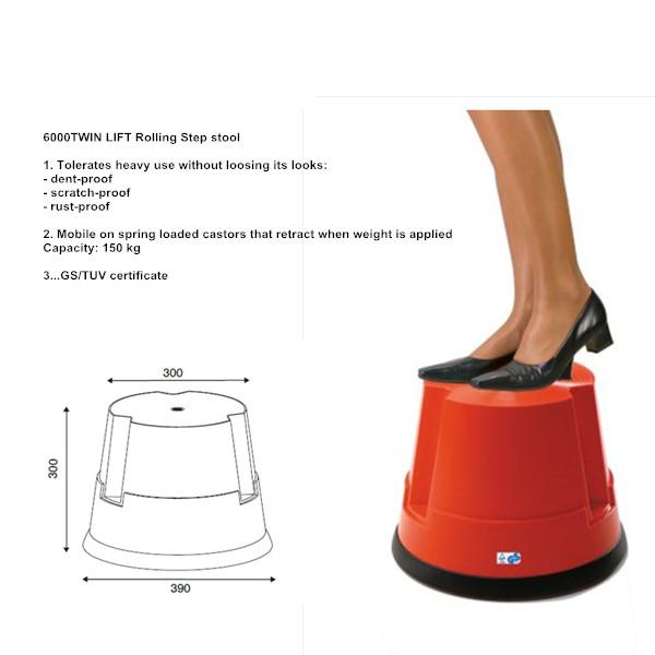 Industrial 1-Step Stool Lightweight Step Ladder Small Step Stool