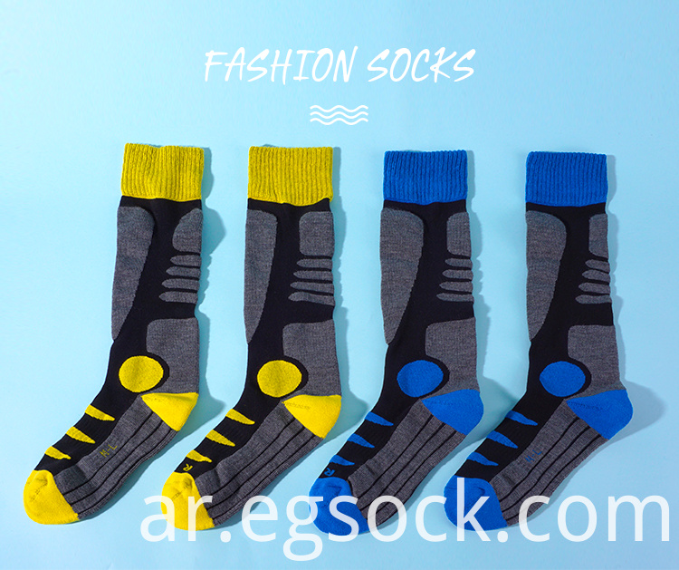 Knee High Ski Merino Wool Socks