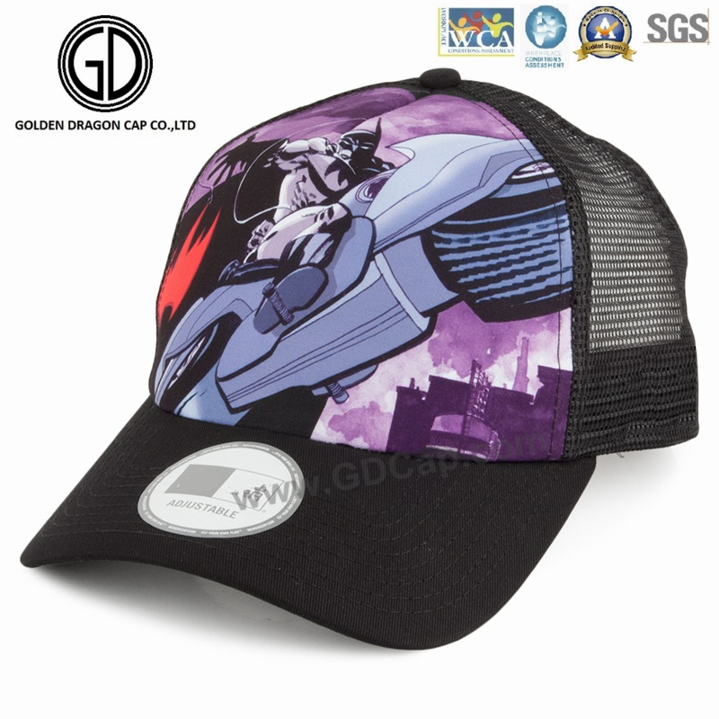 Cool Unisex Classic Customized Sublimation Printing Baseball Trucker Cap with Mesh Back