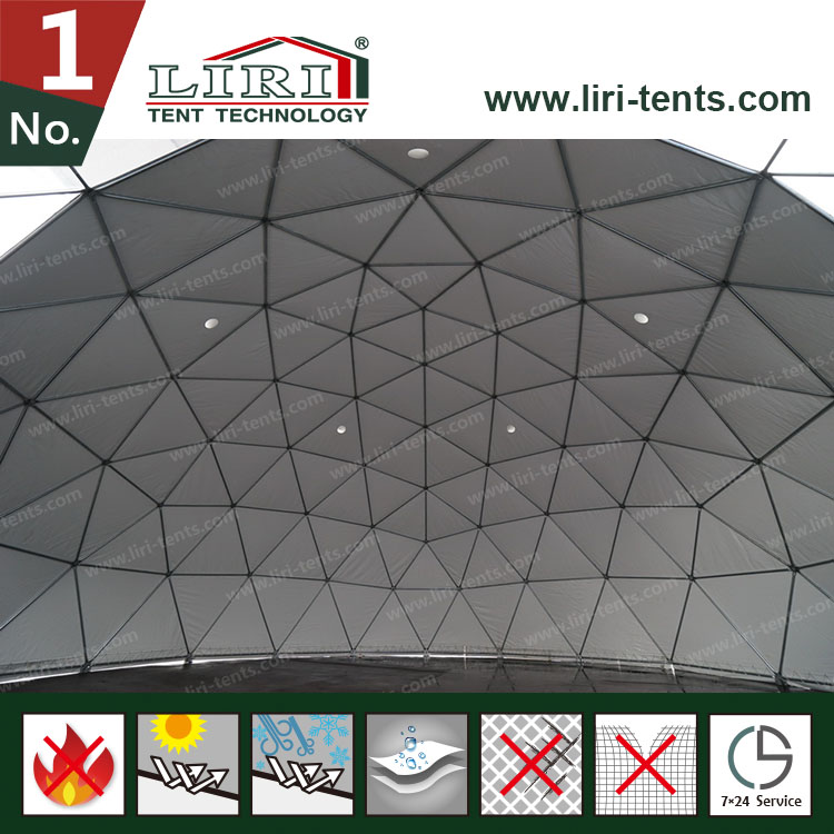 White Outdoor Geodesic Dome Tent, Half Dome Tent for Advertising