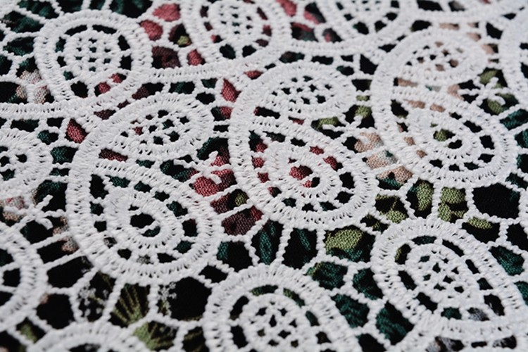 100% embroidery fabric with hole