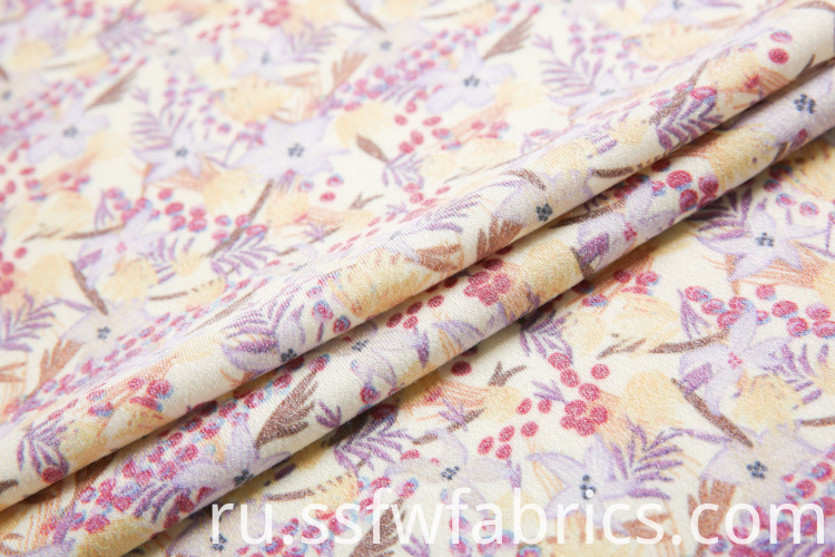 Jersey Plain Poly Crepe Fabric
