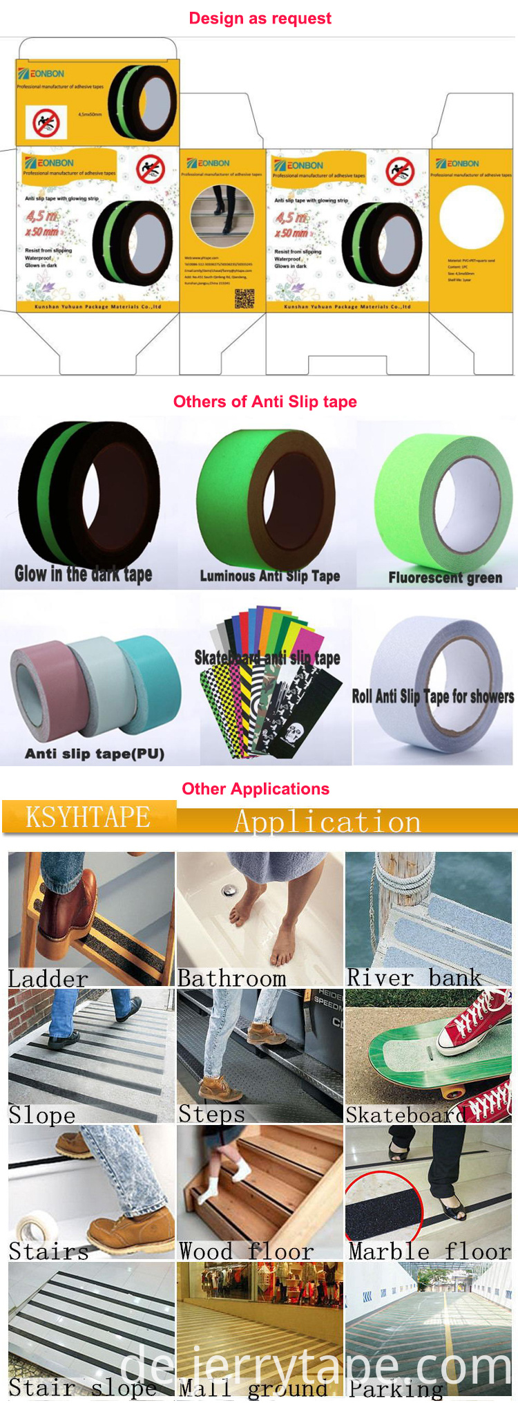 PET anti slip tape