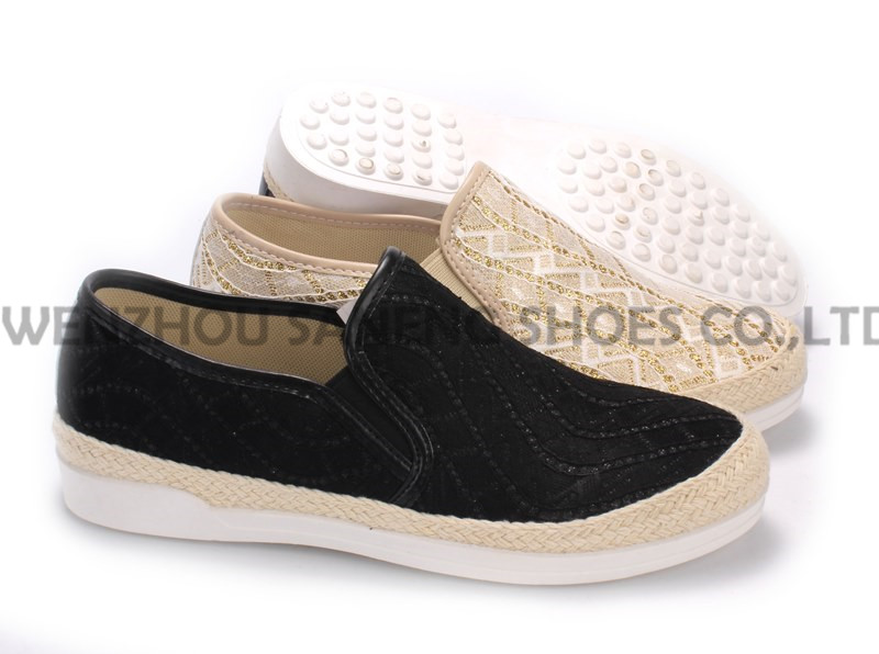 Women's Shoes Leisure PU Shoes with Rope Outsole Snc-55006