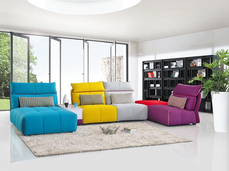 Modern Living Room Fabric Sofa Popular Furniture