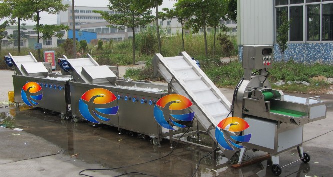 Automtaic High Output Vegetable Cutting Washing Cleaning Processing Line (CWA-2000)