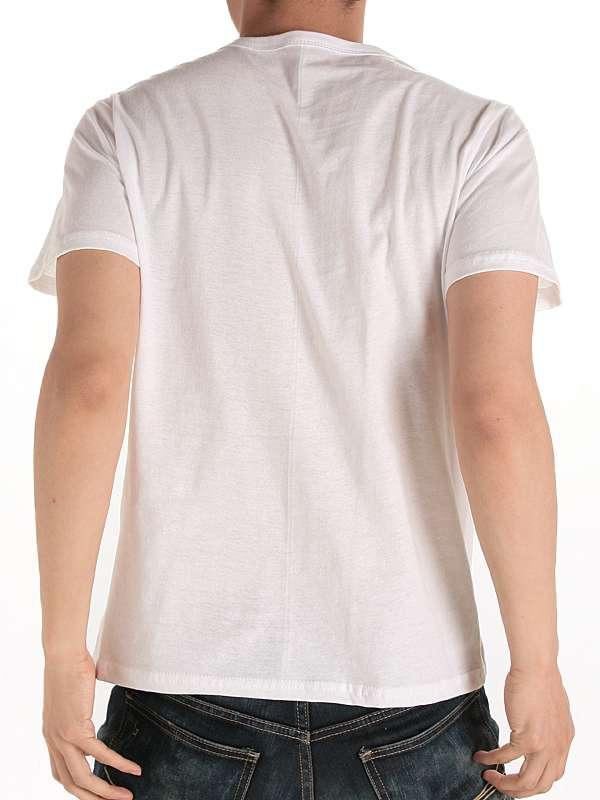 Fashion Screen Printing White Men Cotton Custom Wholesale T Shirt
