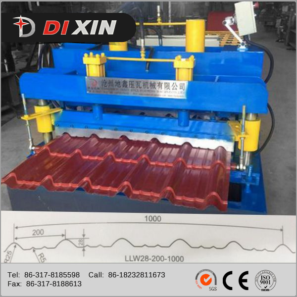 Automatic Color Steel Glazed Tile Forming Machine