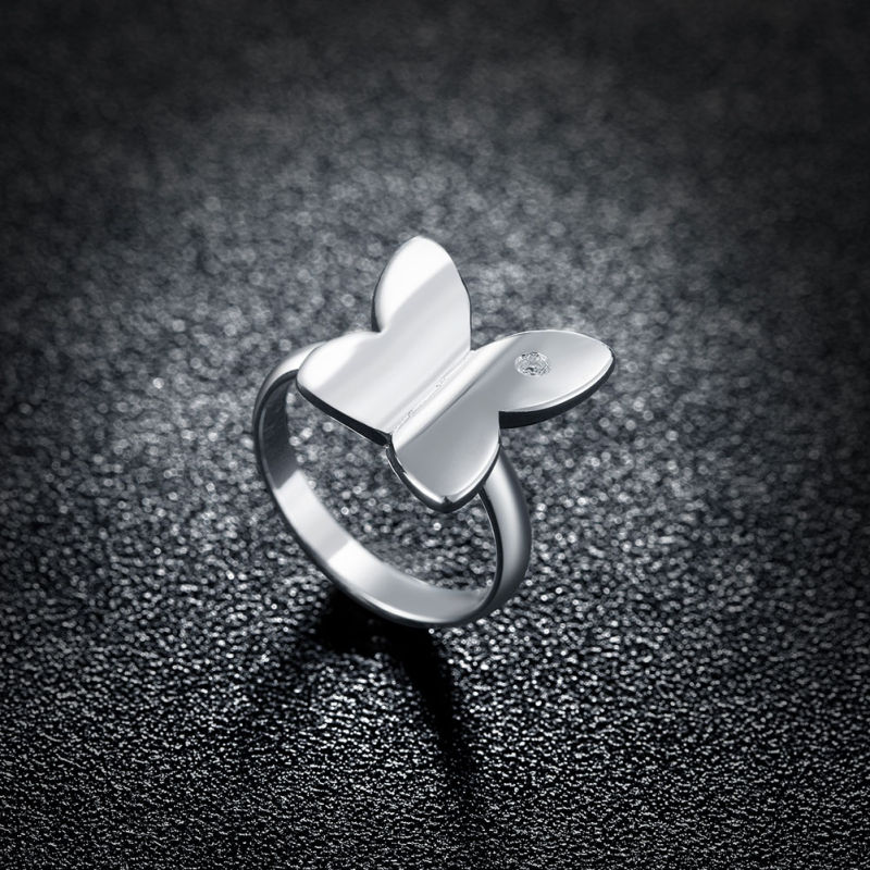 Silver Plated Zircon Ring Fashion Design Hotsale Silver Women Rings