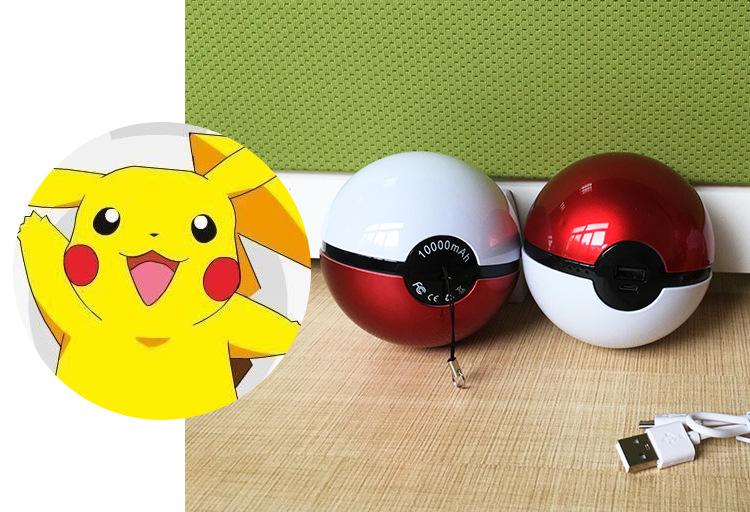 2016 Hot Selling Custom High Quality Pokemon Power Bank Charger Pokeball Power Bank, Magic