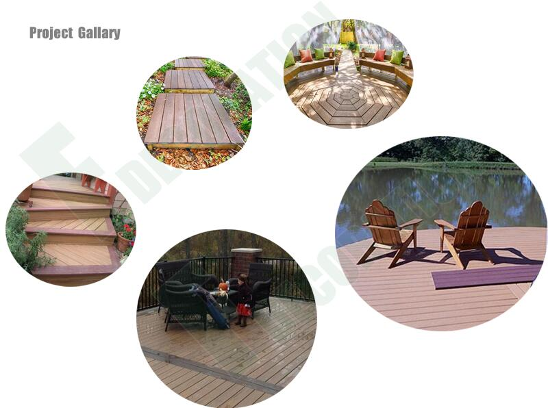 Plastic Wood Composite WPC Outdoor Deck for Swimming Pool