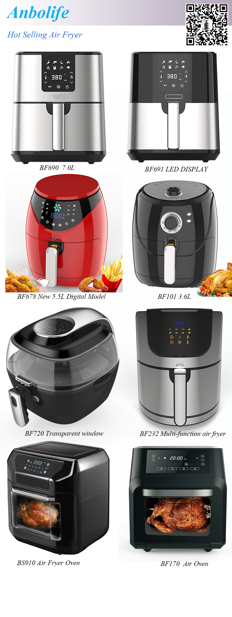 stainless steel Air Fryer Kitchen