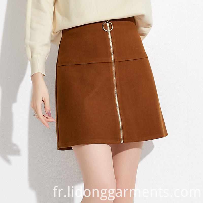 Women Skirt with Zipper