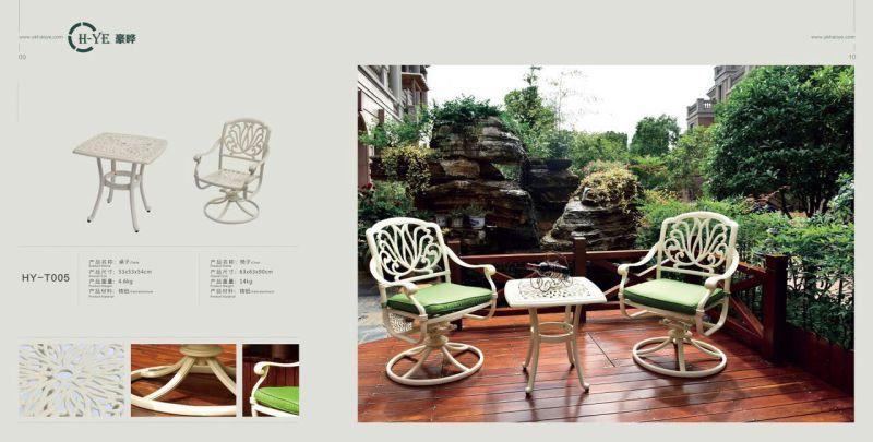 Outdoor Cast Aluminium Table (HY-T005)