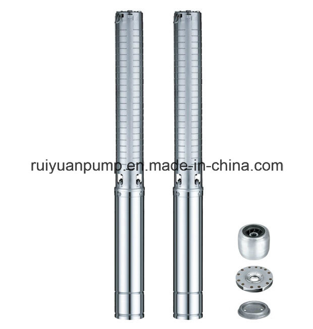 4 Inches 0.55KW 0.75HP Stainless Steel Multistage Deep Well Submersible Water Pump (4SP5/6-550W)