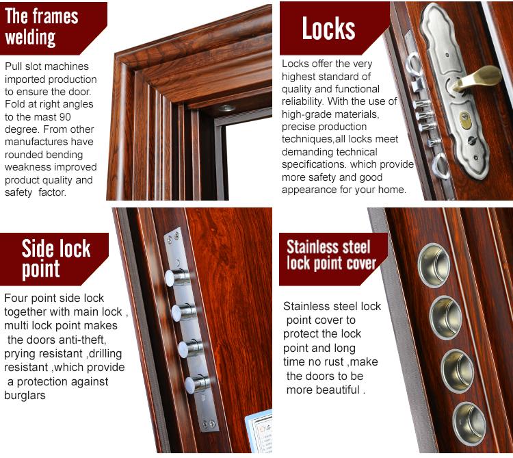 TPS-030sm Wholesale Price Front Security Steel Door Iron Safety Door Design for Apartment