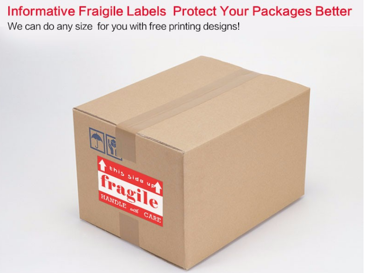 Fragile Shipping Label