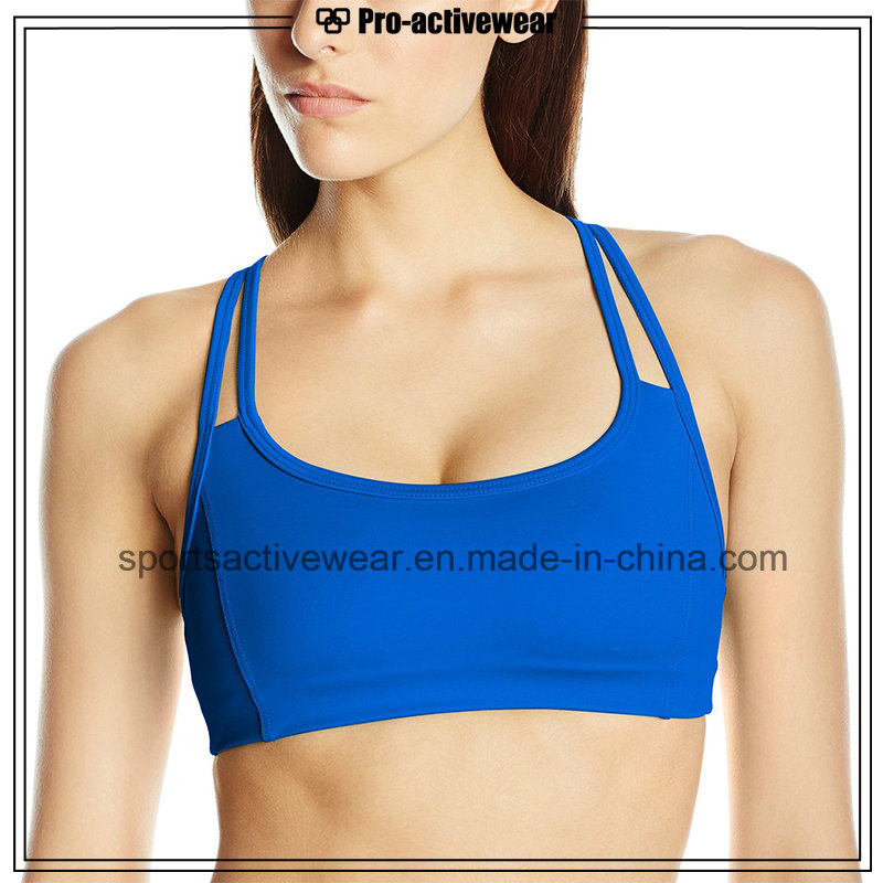 OEM 2016 Hot Selling New Design Lady's Fabric Fashion Sports Bra