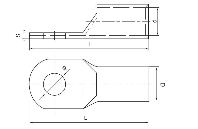 SCA(JGK) Cable Lugs Copper Terminals