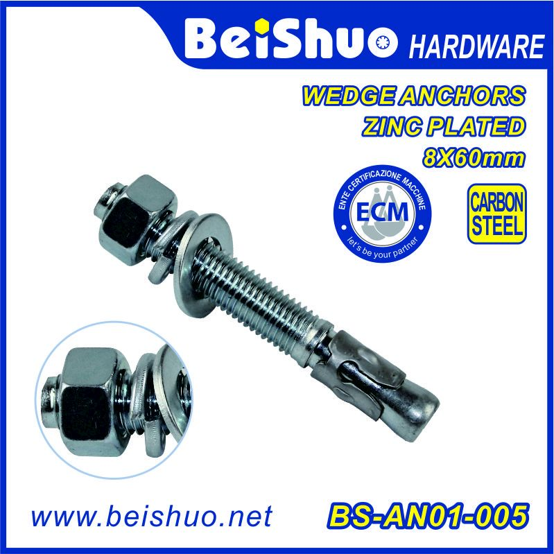 Zinc Plated Construction Concret Wedge Anchor/Sleeve Anchor