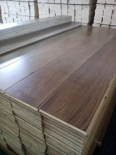 Prefinished Engineered American Walnut Hardwood Flooring