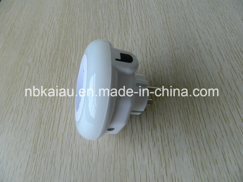 9LEDs Three Color Version Color Changing Touch Switch LED Night Light with Adaptor