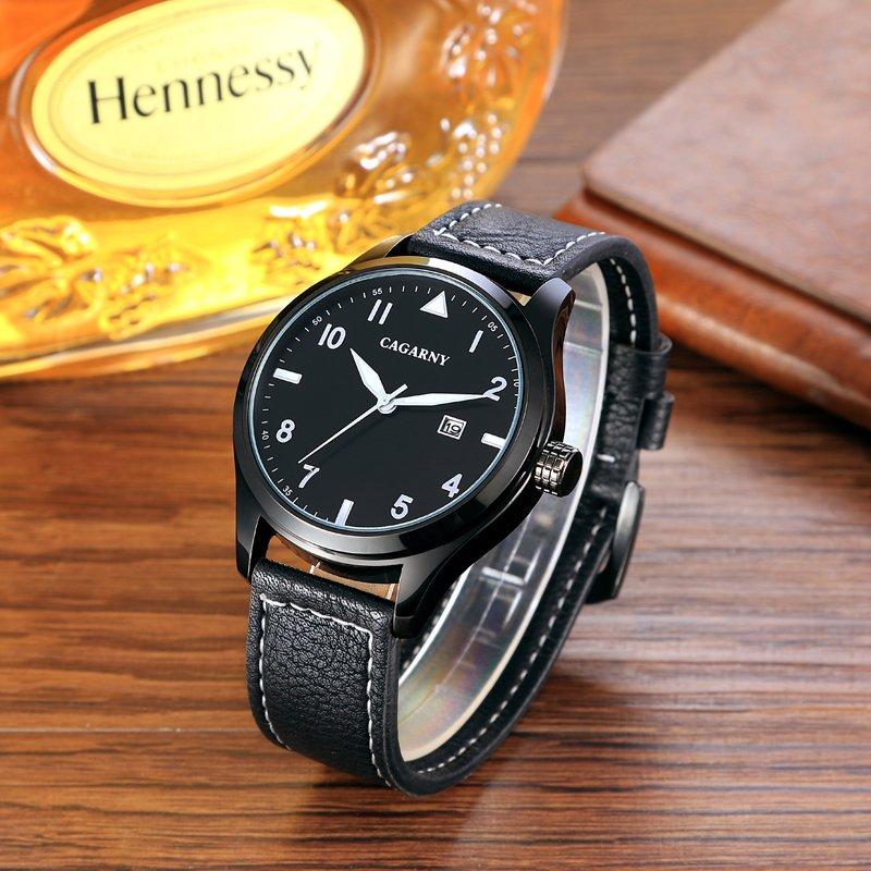 Fashion Unisex Wristwatch 43mm Case Ssbuckle IP Black Colored