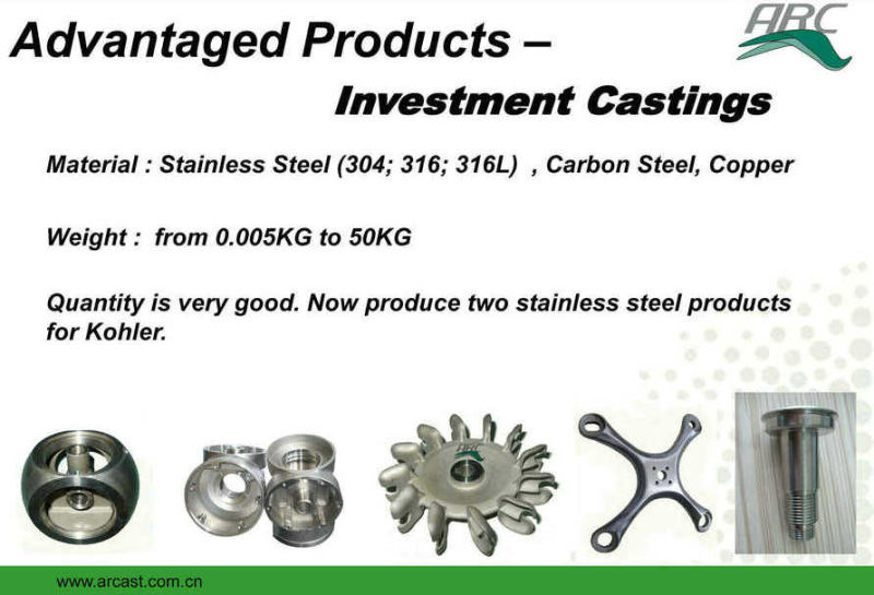 Brushed Stainless Steel 304 OEM Investment Castings