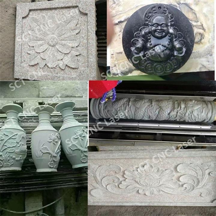 Máquina de mármore do CNC da gravura de Filipinas / 3D que cinzela o router 1325 do CNC da pedra