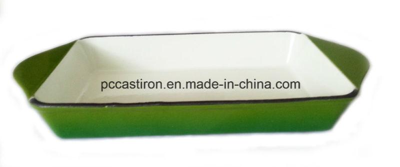 Enamel Cast Iron Baking Pan Manufacturer From China