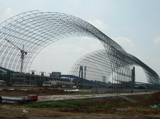 Prefab Light Steel Fabrication Aircraft Hangar Project