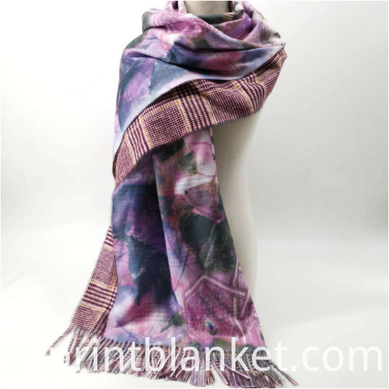 print cashmere scarf