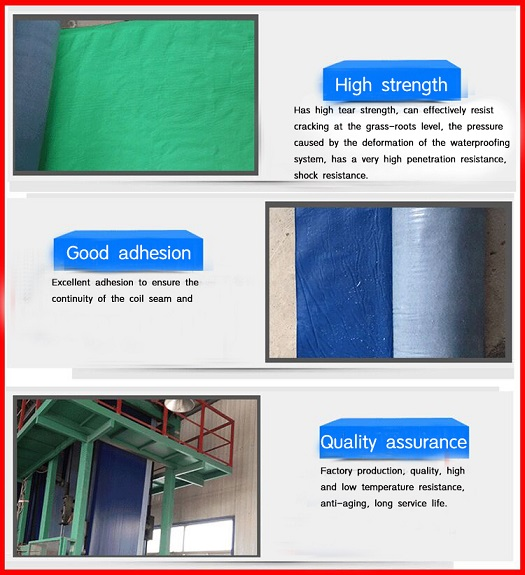 Rapid Response Glued Strong Cross Membrane Adhesive Waterproof Coiled Material