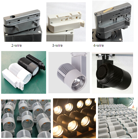 30W 3000lm High Brightness LED Track Spotlight