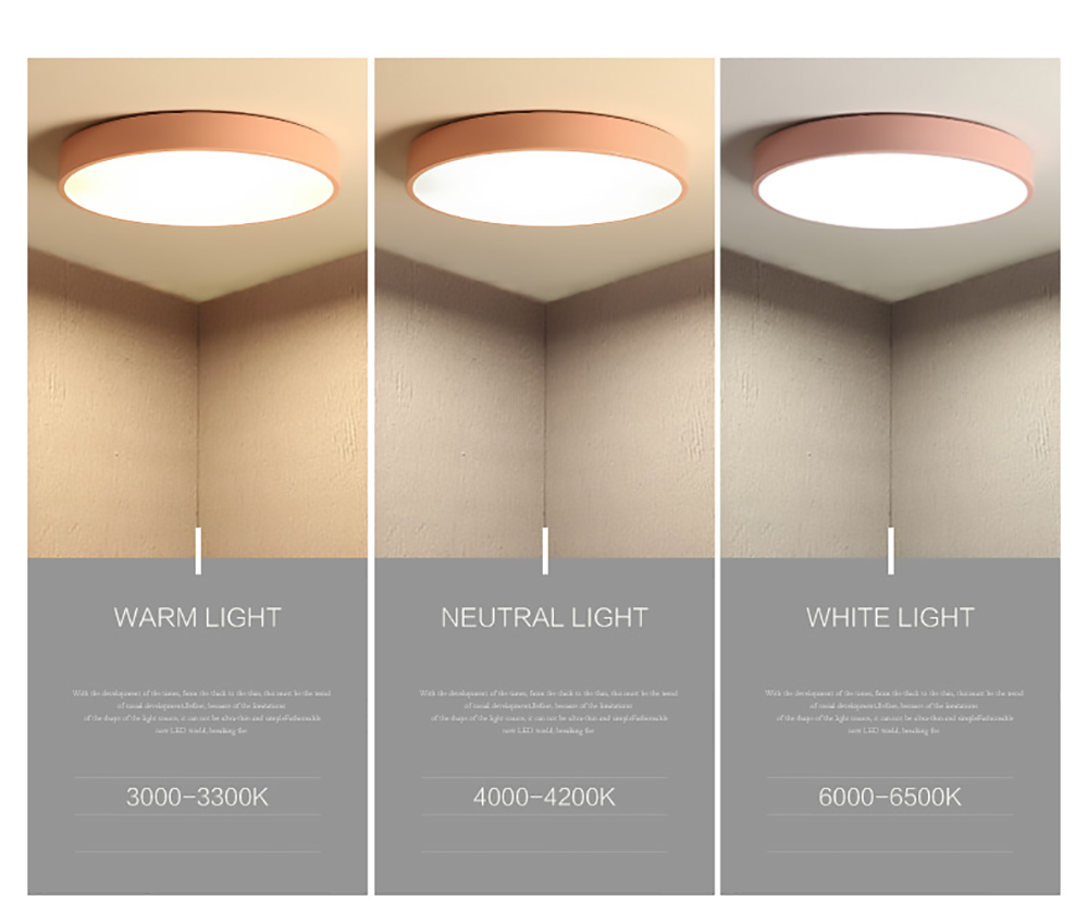 Frameless ceiling light